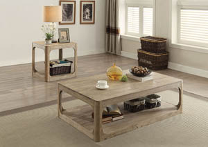 Image for Zaina Natural Oak End Table