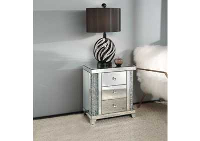 Noralie Mirrored Faux Diamonds End Table