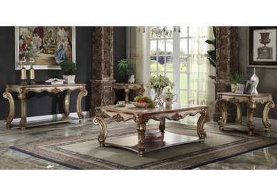 Vendome Gold Patina Console Table