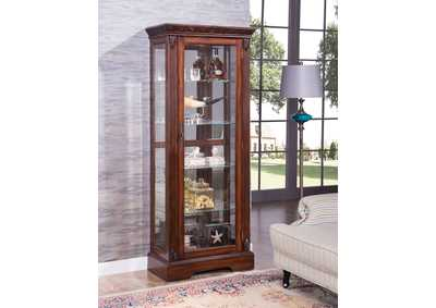 Image for Addy Cherry Curio Cabinet