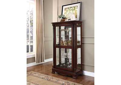 Carrie Cherry Curio Cabinet w/ 4 Side Doors