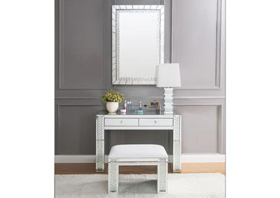 Image for Nysa Mirrored Faux Crystals Vanity Desk