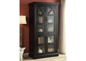 Rica Weathered Black Curio Cabinet