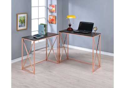 Image for Deona Weathered Gray/Rose Copper Desk Set (Set of 2)
