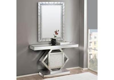 Image for Nowles Mirrored/Faux Stones Console Table