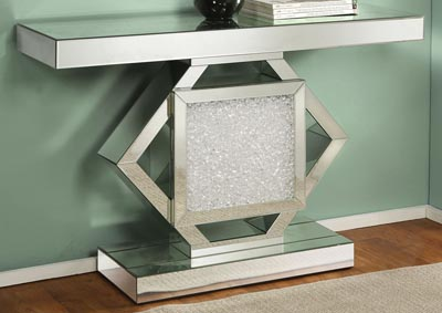 Nowles Silver Console Table