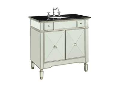 Image for Atrian Black Marble/Mirrrored Sink Cabinet