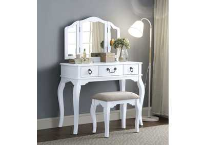 Image for Abelus Tan White Vanity Set