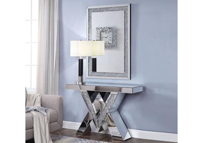 Noralie Mirrored/Faux Diamonds Console Table