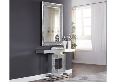 Noralie Mirrored Faux Diamonds Console Table