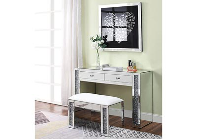 Image for Noralie Mirrored Faux Diamonds Vanity Desk
