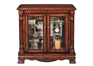 Gilby Cherry Curio Cabinet
