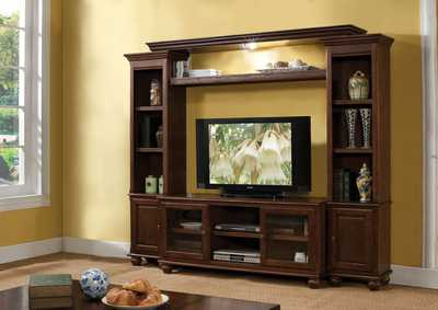Image for Dita Walnut Entertainment Center