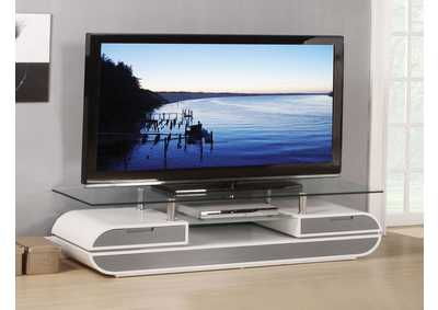 Image for Lainey White/Gray TV Stand