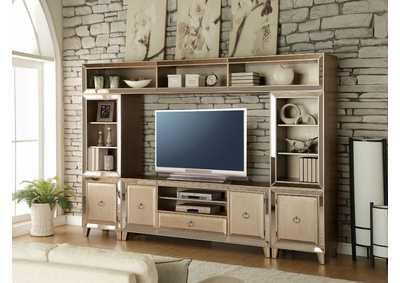 Voeville Antique Gold Entertainment Center