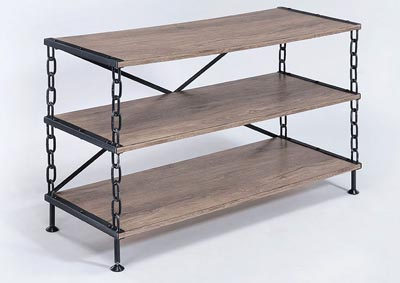 Image for Jodie Rustic Oak & Antique Black TV Stand