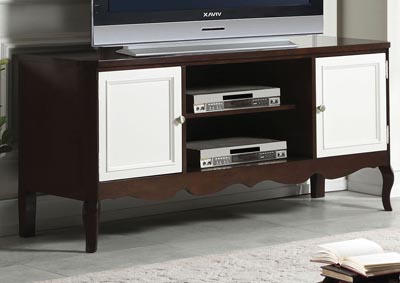 Image for Mathias Walnut/White TV Stand