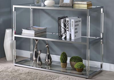 Image for Raegan Clear Acrylic/Chrome TV Stand