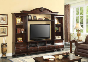 Faysnow Dark Cherry Entertainment Center