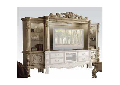 Dresden Gold Patina/Bone Entertainment Center