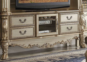 Dresden Gold Patina & Bone TV Console