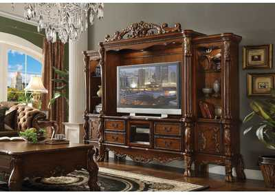 Dresden Cherry Oak Entertainment Center
