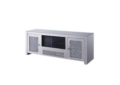 Noralie Mirrored/Faux Diamonds TV Stand
