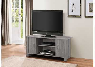 Tedros Gray Oak TV Stand