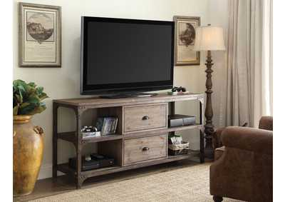 Image for Gorden Oak/Silver TV Stand