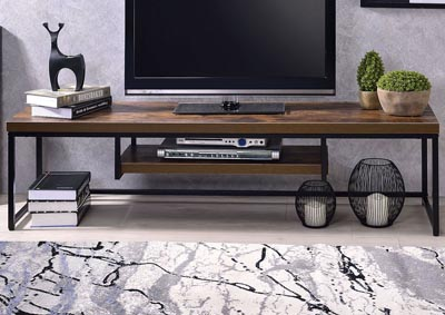 Image for Bob Weathered Oak/Black TV Stand