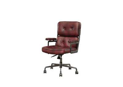 Larisa Vintage Merlot Office Chair