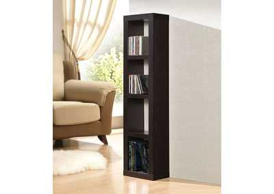 Carmeno Espresso Bookcase CD/DVD Unit