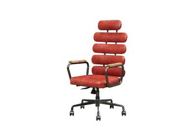 Calan Vintage Red Office Chair