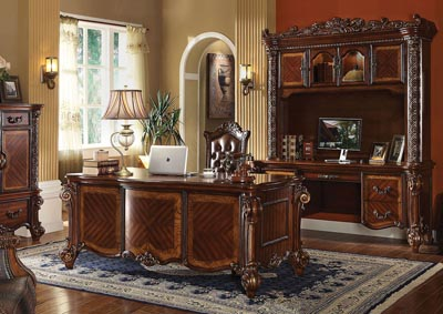 Vendome Cherry Computer Desk and Hutch
