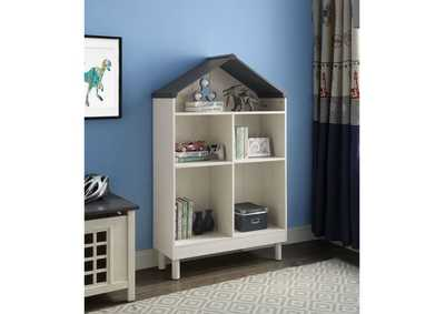 Image for Doll Cottage Weathered White/Washed Gray Bookcase