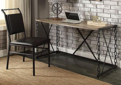 Image for Jodie Rustic Oak/Black Desk