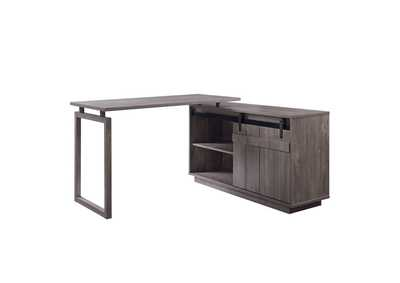 Image for Bellarosa Gray Desk w/Cabinet