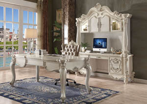 Versailles Bone White Computer Desk w/Hutch