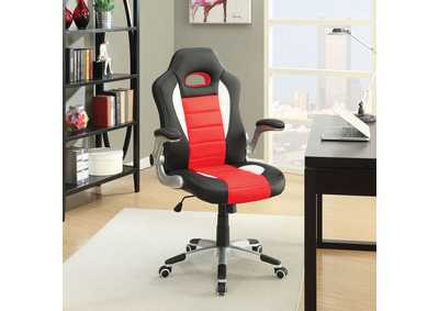 Nolen Black & Red PU Office Chair