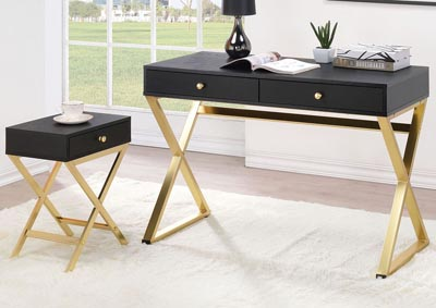 Image for Coleen Black/Brass Desk