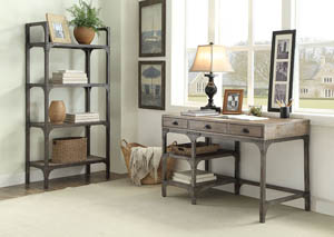 Gorden Weathered Oak & Antique Silver Bookshelf