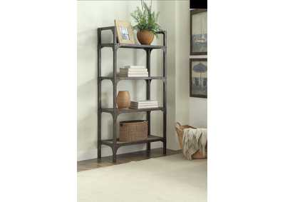 Gorden Oak/Silver Bookshelf