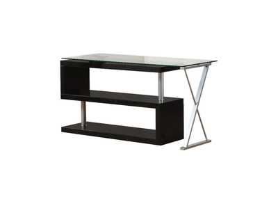 Image for Buck Black/Clear Glass Desk