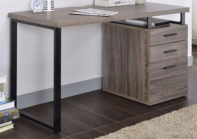 Image for Coy Gray Oak Desk