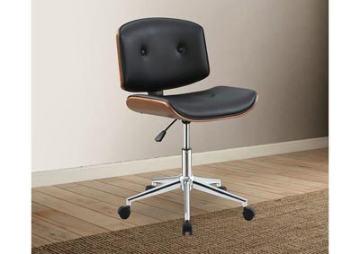 Camila Black Office Chair w/Divets