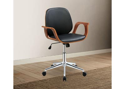 Camila Black Office Chair w/Arms