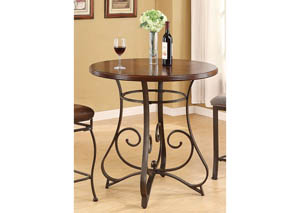 Tavio Walnut & Dark Bronze Bar Table