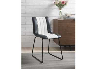 Muscari Black/White/Black Accent Chair