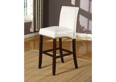 Jakki White PU Counter Height Chair (Set of 2)