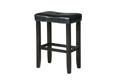 Micha Black PU & Black Counter Height Stool (Set of 2)
